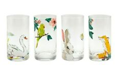 CATH KIDSTON Set Of 4 Park Wildlife Glass Tumblers  - Brand New Boxed