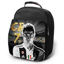 RONALDO Juve Lunch Bag Football Insulated Boys Childrens School - Black