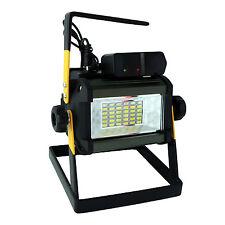 Rechargeable 50W Led 2400Lum Floodlight 36LED Portable Flood Light 6000K US Plug