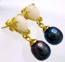 Runde echte Perlen-Ohrschmuck im Ohrstecker-Stil