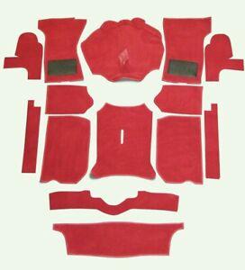 Replacement Red Car Carpet Set (fits Triumph Spitfire 1500,MK3 Mk4 1967-1980)