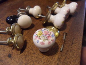 8 antique style furniture odd pot knobs 7 drawer knobs crafts deco upcycle  13M