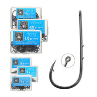 50Pcs/Lot Barbe Fishing Hooks High Carbon Steel Sharpened Fishing Hook With Box