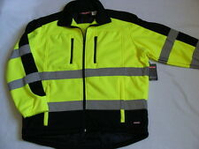 NWT Men's CRAFTSMAN Work Jacket Size XL Soft Shell High Visibility Coat Teflon