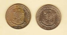 Philippines 1 Peso Jose Rizal 1972 (  2 coins ) AU,  Heavy Toned on 1 coin