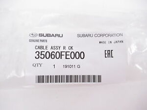 Genuine OEM Subaru 35060FE000 Manual Trans Shift Cable 2004-2007 Impreza