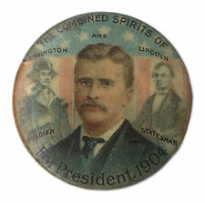 Theodore Roosevelt Ghost Button From the 1904 Race