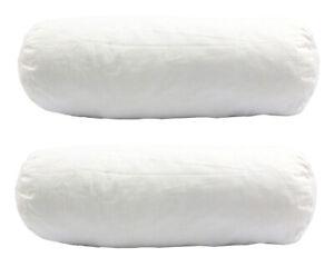 2 Stück Nackenrolle Allergiker geeignet 15x40 cm, 220g prall gefüllt PU Sticks