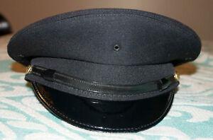 Dark Navy Blue Keystone Uniform Cap Corp. Service Saucer Cap Fire Police Size XL