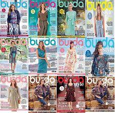 11 Magazines Burda Style Ukraine Magazine 01-02, 04- 12 / 2016 in russian