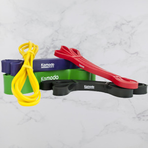 Set Of 5 Resistance Band Workout Gym Home Training Exercise Core Strength