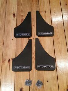 (4) Toyota Splash Guards NOS Vtg Mud Flaps Old School Corolla Camry Celica AE86