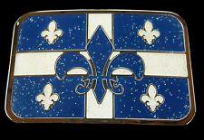 Quebec La Belle Province Drapeau Fleur Lys Boucle De Ceinture Belt Buckle