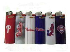 Bic Philadalphia Phillies Mlb Baseball Full Size Lighters 6 Pcs