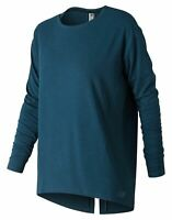 New Balance Women's Studio Relaxed Long Sleeve Blue