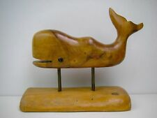 Carved Hawaii Melo Wood Happy Whale Signed