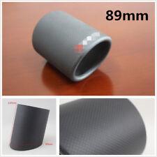 89mm Car Matte Carbon Fiber Exhaust Muffler Pipe Tip Cover Tail Throat Crimping