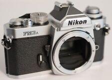 Nikon FM3A 35mm SLR Film Camera - VG+/EX- BODY ONLY - Silver - nice camera