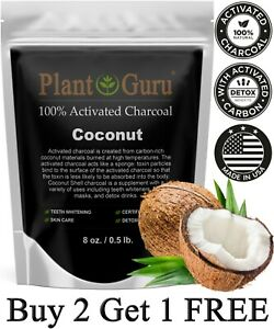 Activated Charcoal Powder 8 oz. COCONUT 100% Food Grade Organic Teeth Whitening