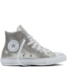 NEW Converse Chuck Taylor All Star Stingray Metallic HI Women's Shoes Silver SZ9