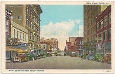 View on Main Street in Joplin MO Postcard
