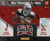 2011 PANINI THREADS HOBBY FOOTBALL 12 BOX CASE ( CAM NEWTON AUTO ?)
