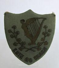 Antique Papier Mache Candy Container Shield Erin Go Bragh Irish Ireland Unusual