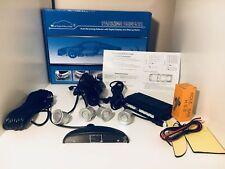 SILVER Auto Posteriore Retromarcia Parcheggio 4 SENSORI DI RETROMARCIA CICALINO DISPLAY LCD KIT ALLARME