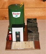 SINCLAIR DIESEL FUEL TRACKSIDE STORAGE TANK BUILDING GAS PUMP COAL BINS OFFICE