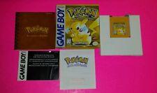 Pokemon: Yellow Version -- Special Pikachu Edition (Nintendo Game Boy, 1999) CIB