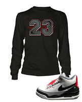 23 Tee Shirt To match Jordan 3 Tinker Shoe Men Graphic T Sizes Sm to 7XL