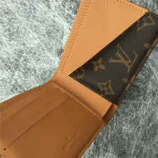 Louis Vuitton Preowned Men's Genuine Leather Canvas ID Credit Card Wallet Brown