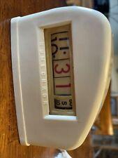 Vintage Tymeter Numechron Rotating Numbers Electric Desk Clock, Works