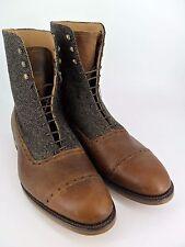 Sadler Brown & Moons Tweed leather Brogue Boots UK 9 EU 43 RRP £335 LN11 06 www