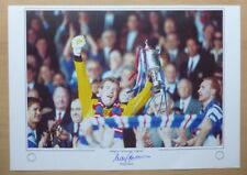 "Andy Goram Signed 16x12"" Rangers ""9 in a row"" Legend Limited Edition Print (938)"