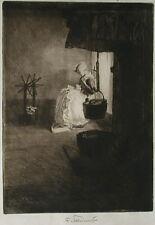 Ferdinand Schmutzer (1870-1928) Die Weissnäherin.