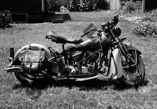 "WWII Era 1939 Indian Chief Motorcycle 13""x 19"" Photo Poster 29 Harley-Davidson"