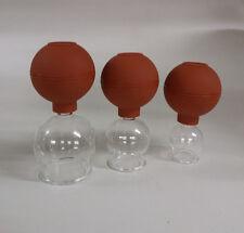 Schröpfgläser aus  3er Set 25 35 45 Saugball Schöpfglas Massageglas schröpfen