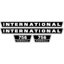 756 INTERNATIONAL HARVESTER FARMALL TRACTOR HOOD DECAL KIT HIGH QUALITY 🎯