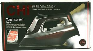 CHI Touchscreen Steam Iron Comfort Grip, Titanium Infused 10ft Cord Black 13103