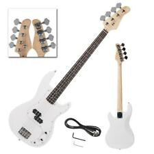 New Brand Maple Neck Right Handed   White 4-String Electric Bass Guitar