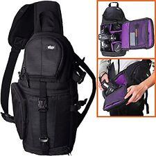 DSLR Sling Bag Style Camera Backpack Black Sony Nikon Canon Travel Photographers