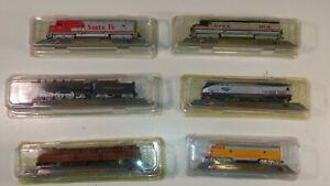 LOTTO 6 TRENINI DEL PRADO 1:160 - U.S.A. Amtrak, Union Pacific, Pennsylvania...