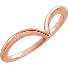 14K Gold V Ring 14K Rose Gold V Shaped Ring 651812 Matching Necklace Available