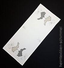 STICKEREI Tischdecke HASE Tischdeckchen OSTERHASE Mitteldecke OSTERN Decke 40x90