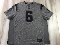 Nike USC Trojans Jersey Adult 3XL XXXL Gray Black Sewn Number #6 Football Mens