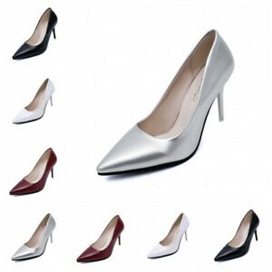 Sexy Stilettos High Heel Womens Pointed Toe Slip On Party Wedding Pumps Shoes BB