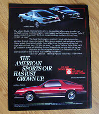 1984 Dodge Daytona Ad  Turbo & Turbo Z