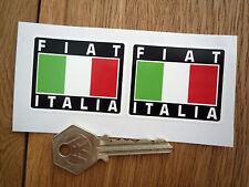 FIAT ITALIA TRICOLORE STILE adesivi 50mm COPPIA RACE RALLY AUTO CASCO 500 punto