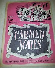 """Greek Theatre 1949 Summer Season Programme  Gene Mann,s """"CARMEN JONES"""""""